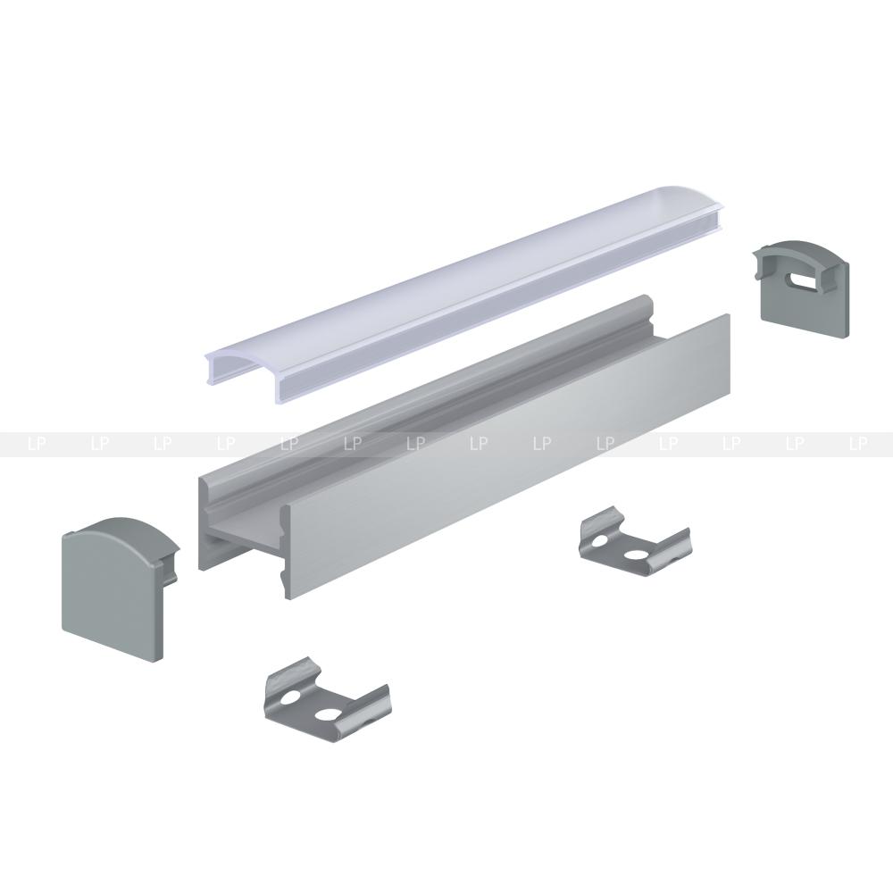 Монтаж на стіну за допомогою кліпси ЛК або магніту ЛМ
