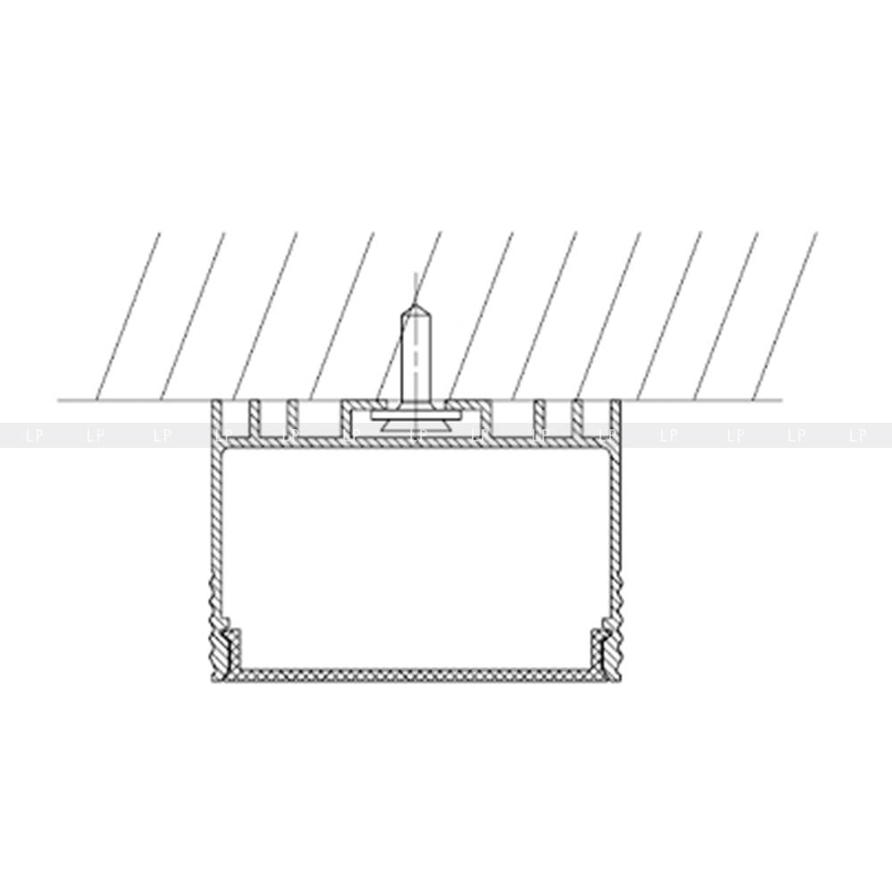 Специальная канавка для центрирования самореза.
