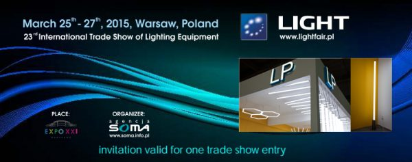 """TIS"" company will present system of LED-Profiles «LP» at the LIGHT-2015 exhibition in Warsaw"