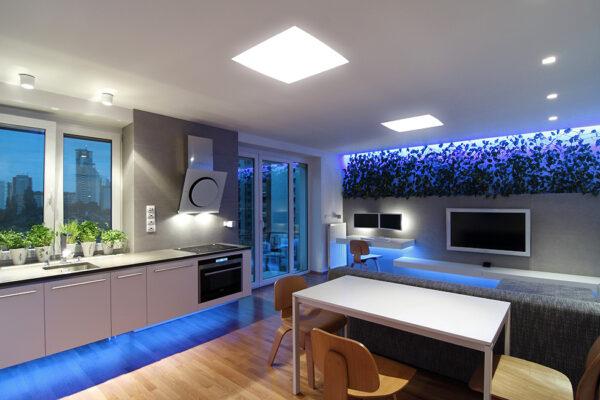 Как можно обыграть LED-освещение на кухне