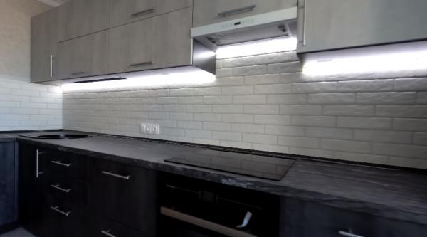 Застосування світлодіодного підсвічування для робочої зони на кухні
